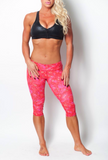 Pink/Red Paisley Luxe Capri