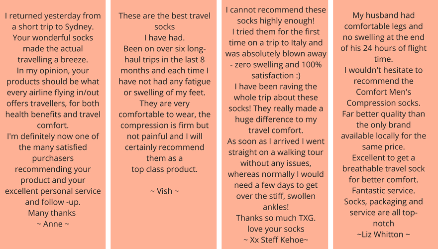 flight sock customer feedback