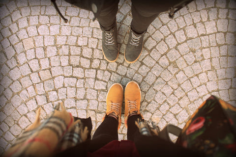 people wearing shoes