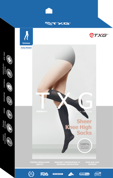 TXG Sheer Support Knee High Stockings