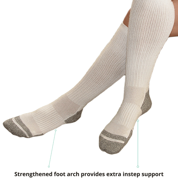 TXG Diabetic compression socks have a strengthened foot arch which provides support
