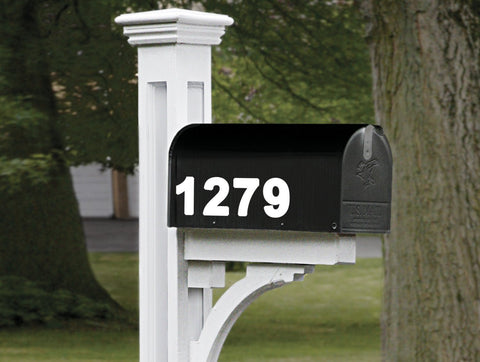 House Address Numbers Vinyl Decal 2 Inch Numbers Mailbox