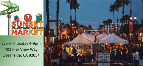 Find your favorite Ohana Soaps bath and body products on Thursday nights from 4-9pm at the Sunset Market and Street Fair in Oceanside, California.