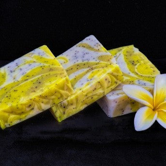 Ohana Soaps' Citrus Scrub soap offers a luscious fragrance of juicy lemon, brisk tangerine, a zing of grapefruit and a hint of white musk.
