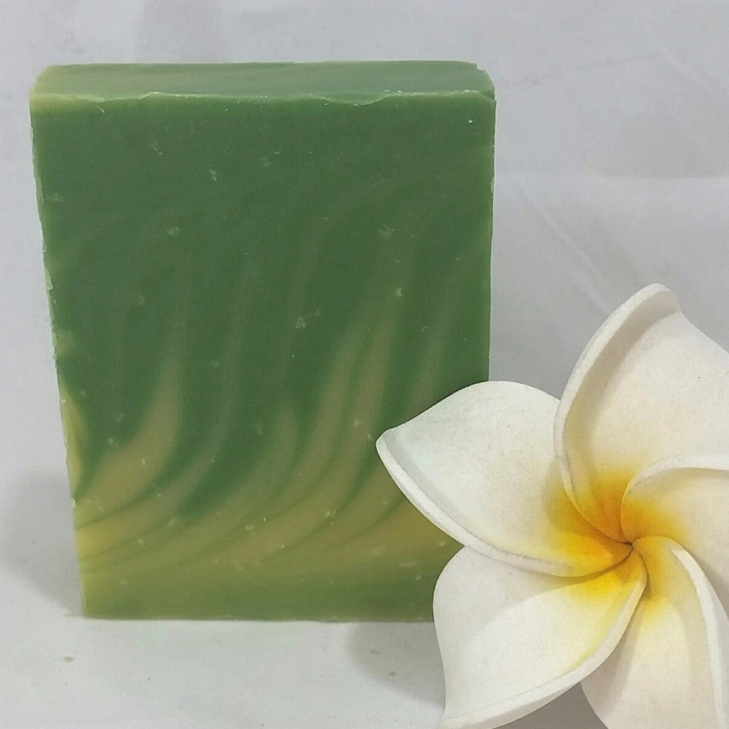 Ohana Soaps' Lemongrass soap has a very clean, crisp aroma with a distinct, energizing citrussy zing of lemon with subtle touches of botanical grasses and a hint of citronella spicyness that stimulates and energizes. This soap is perfect for camping and other outdoor summertime activities as the scent of lemongrass repels mosquitoes.