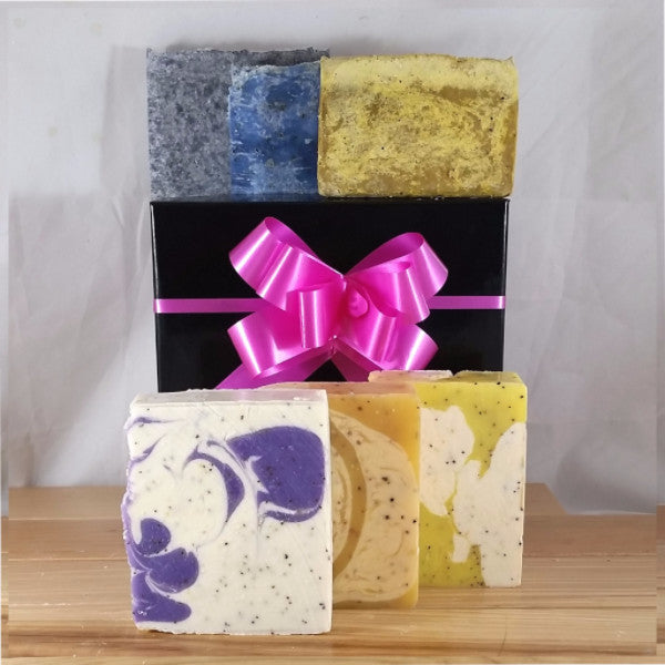 At Ohana Soaps, we know you have your favorite soaps. That's why we offer My Favorite Bar monthly subscriptions as well as Buy 4 and Save deals for individual soaps.  But we're always in the kitchen cooking up something new. So far, we have more than 40 different handcrafted, cold-processed soaps that are sure to delight you for years to come.  Now you don't have to decide or miss out on special limited edition and sold-out soaps. You can try all of our soaps. With our Soap of the Month subscription, we'll