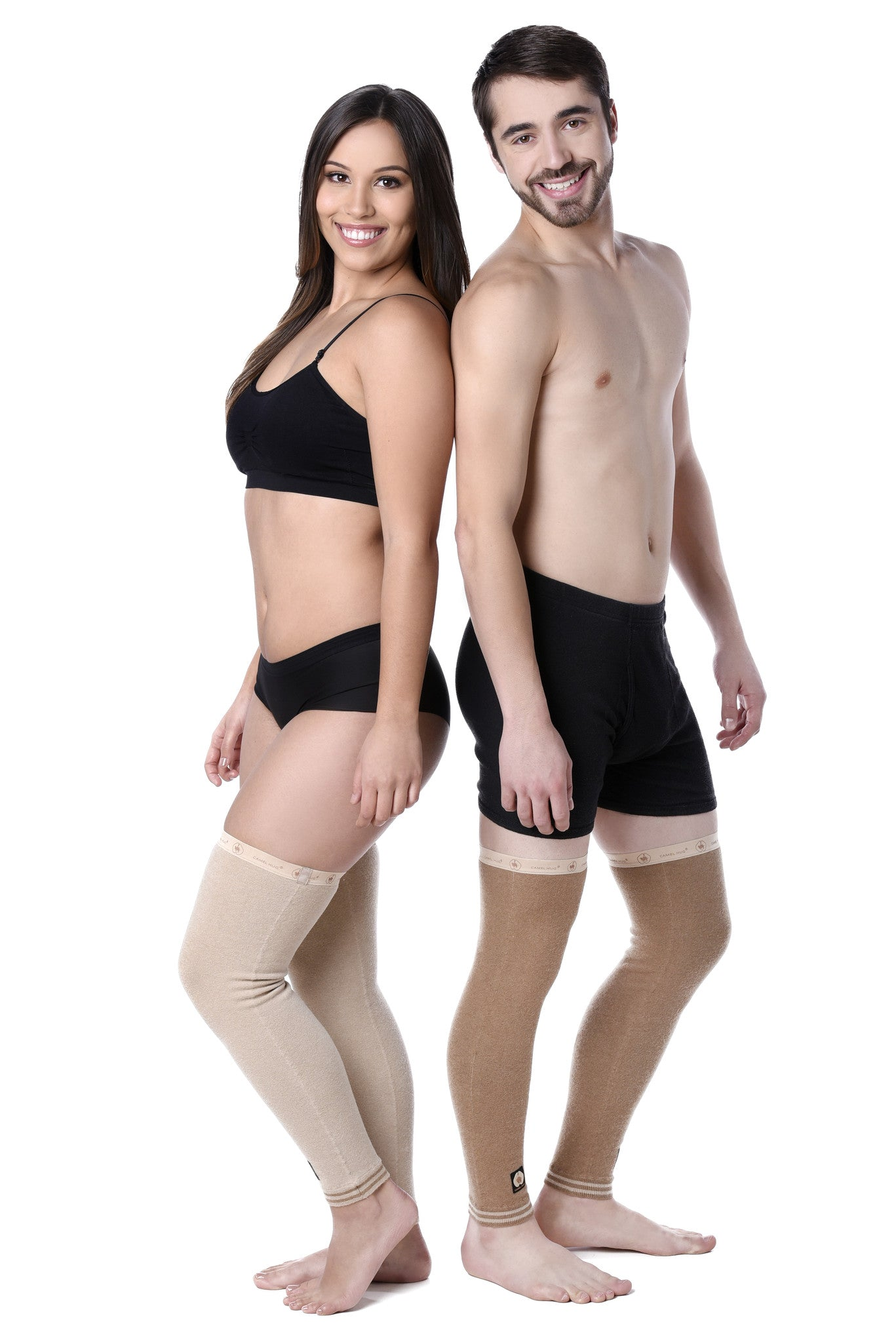 3db3b67fcc5937 The Camel Hug Leg Compression Sleeve provides natural warmth and comfort to your  sore leg ...