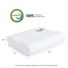 Furinno Contour Memory Foam Pillow FUR1526254