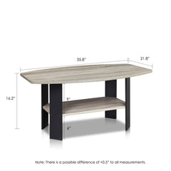 Furinno Coffee Table 11179GYW/BK