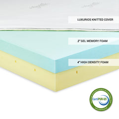 Furinno 6-Inch Gel Infused Memory Foam Mattress FUR626290F