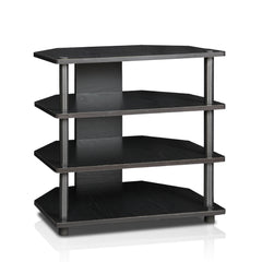 Furinno 4-Tier TV Stand 15093BW/BK