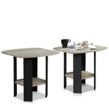 Furinno End Table 2-11180GYW SET OF 2