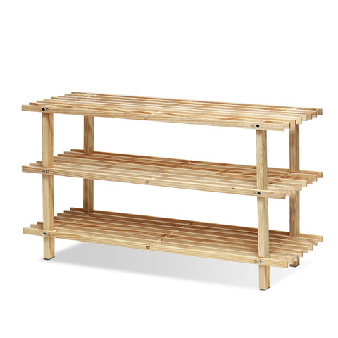 Furinno Pine Solid Wood 3-Tier Shoe Rack FNCJ-33003