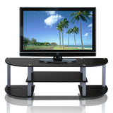 Furinno TV Entertainment Center 11058GYW/BK