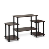 Furinno Entertainment Center 11257DBR/BK