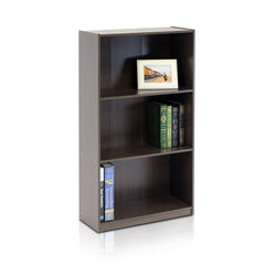 Furinno 3-Tier Bookcase Storage Shelves 99736DBR