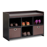 Furinno Storage Bench with Cushion 13138EX/EX/BR