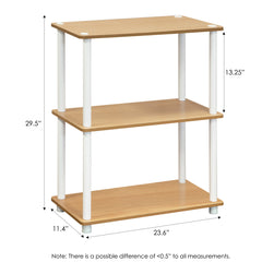 Furinno 3-Tier Multipurpose Shelf Display Rack 10024BE/WH