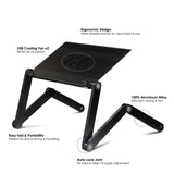Furinno AdJustable Laptop table X7-Black