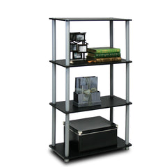 Furinno Turn-N-Tube 4-Tier Multipurpose Shelf Display Rack (99557)