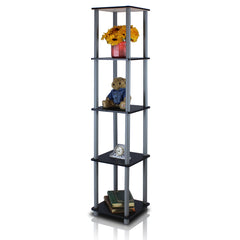 Furinno Turn-N-Tube 5-Tier Corner Square Rack Display Shelf (99132)