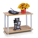 Furinno 2-Tier Shelf/End Table 11250DBR/BK