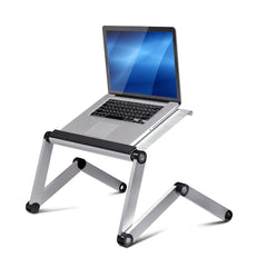 Furinno AdJustable Multi-functional Laptop Desk Portable Bed Tray A6-Silver