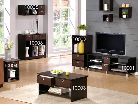 Furinno 10001EX/BR TV Entertainment Center with 2 Bin Drawers, Espresso/Brown