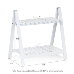 Furinno 2-Tier Outdoor Plant Shelves FNCP-33036