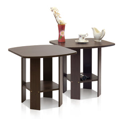 Furinno 2-11180DBR Simple Design End Table, Set of Two