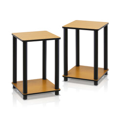 Furinno 2-99800RLC Turn-N-Tube End Table Corner Shelves, Set of 2