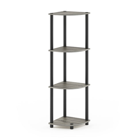 Furinno 4-Tier Multipurpose Shelving Unit 12078GYW/BK