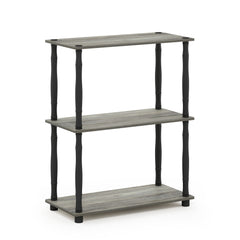 Furinno 3-Tier Multipurpose Shelf 18029GYW/BK