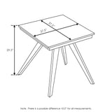 Furinno Outdoor 4-Leg Square Smart Top Table FSTS18018WN