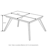 Furinno Outdoor 4-Leg Rectangular Smart Top Table FSTS18012PD