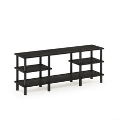Furinno 3-Tier Multipurpose Shelf TV Stand 18073EX/BK