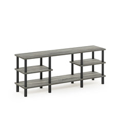 Furinno 3-Tier Multipurpose Shelf TV Stand 18073GYW/BK