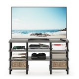 Furinno 4-Tier Multipurpose Shelf TV Stand 18074GYW/BK