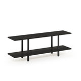 Furinno 2-Tier Multipurpose Wide Shelf 18075EX/BK