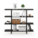 Furinno 4-Tier Wide Display Shelf 18077EX/BK