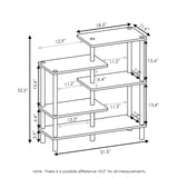 Furinno 5-Tier Accent Display Rack 18088EX/BK