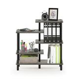 Furinno 5-Tier Accent Display Rack 18088GYW/BK