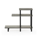 Furinno 3-Tier Sofa Side Table 18127GYW/BK