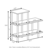 Furinno 3-Tier Cube Ladder Shelf 18136GYW/BK