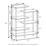 Furinno 6-Tier Display Rack 18089EX/BK