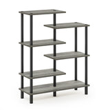 Furinno 6-Tier Display Rack 18089GYW/BK