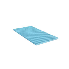 Furinno 2-Inch Egg Crate Gel Foam Mattress Topper FE26222T