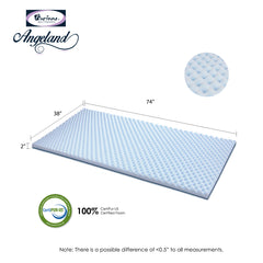 Furinno Angeland 2 INCH Egg Crate Gel HD Foam Mattress Topper, Soft (FE26222)