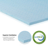 Furinno 2-inch Gel-Infused Foam Mattress Topper FT26221T