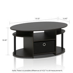 Furinno Coffee Table 15079WNBK